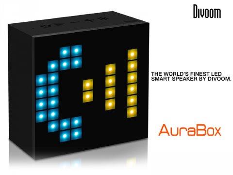 LEDライトで機能表示が可能なBluetoothスピーカー「AURABOX」の取り扱いを開始