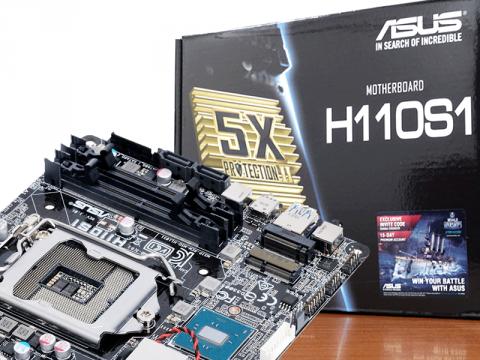 ASUSからもMini-STX、intel H110搭載LGA1151対応マザーボード「ASUS H110S1」