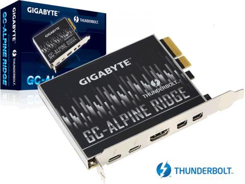 インテルコントローラー搭載、Thunderbolt 3を拡張できるPCI-Eカード「GIGABYTE GC-ALPINE RIDGE」