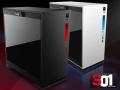 INWINのガラスサイドパネル採用デザインケースにMicroATXモデル「301」シリーズ