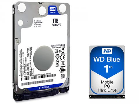 2.5インチ薄型7mmのWD BLUE PC MOBILE HDDシリーズから新1TBモデル「WD10SPZX」販売開始