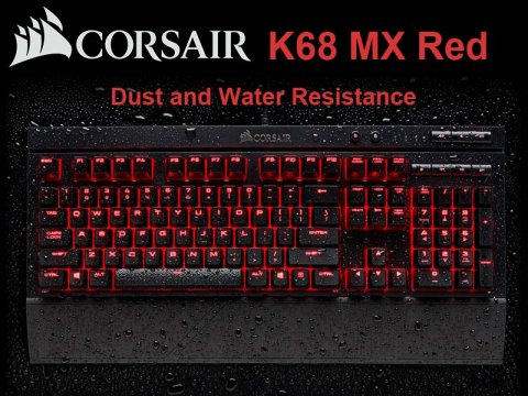 Cherry MX Redスイッチを採用したCorsair製防滴ゲーミングキーボード「K68 MX Red」が発売