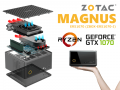 AMD Ryzen 5 1400搭載、Zotac GTX1070搭載ゲーミングMini PCキット「ZBOX MAGNUS ER51070」