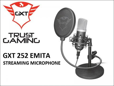 TRUST GAMINGから、プロ志向のコンデンサーマイクロフォン「GXT 252 Emita Streaming Condenser Microphone」が発売
