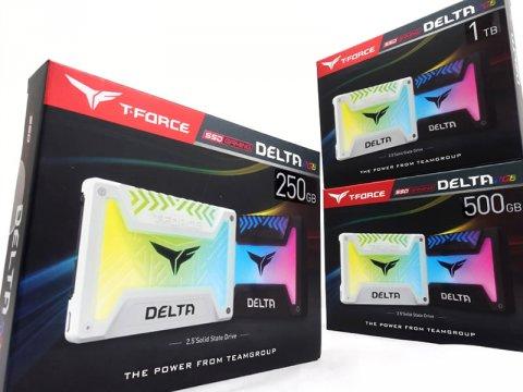 DELTA RGB SSD、アドレス指定のRGB発光に対応、読み取り速度最大 560MB/s 2.5インチSSDがTEAMから登場!