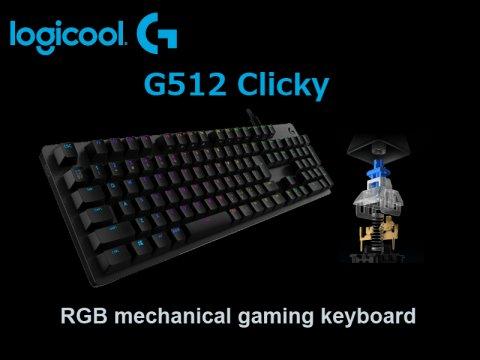 """ロジクールの「G512」キーボードに""""カチカチ""""スイッチ搭載モデル「G512-CK」が登場"""
