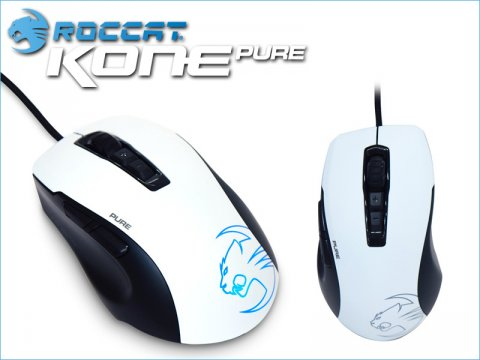 ROCCATの小型軽量マウス「Kone Pure - Owl-Eye」にホワイトモデルが登場