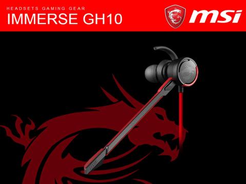 MSIの「Immerse」シリーズヘッドセットの 新モデル「GH10」が発売