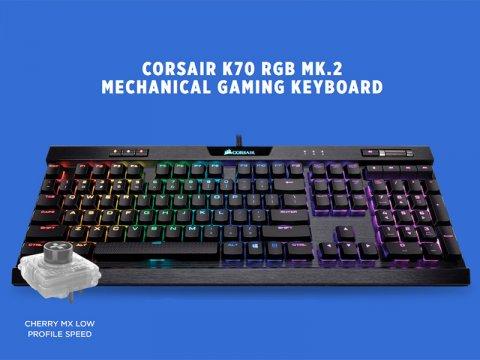 どこまで高速化が進むのか? Corsairから超高速ゲーミングキーボード「K70 RGB MK.2 LOW PROFILE RAPIDFIRE」が発売