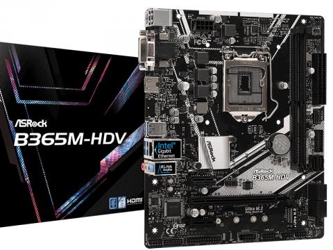 ASRock、インテルB365チップセット搭載コストパ系LGA1151マザーボード「B365M-HDV」