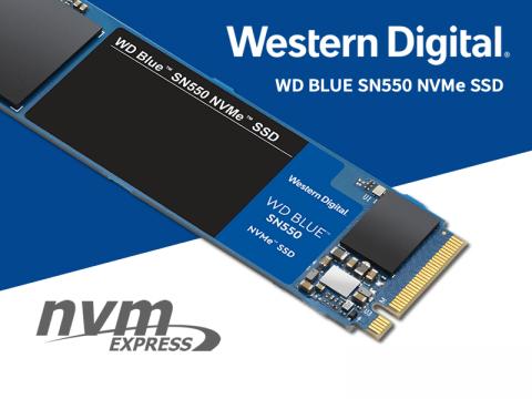 価格と性能のバランスが取れた WD Blue SN550 NVMe PCIe Gen3.0 x4 接続対応 M.2 SSD が販売開始