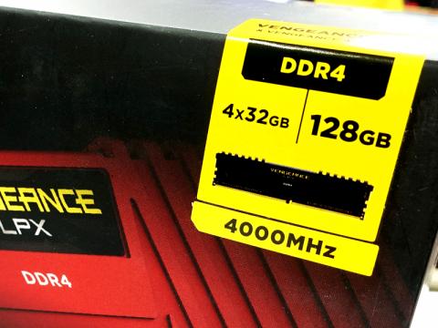 128GBのDDR4-4000 OCメモリー、32GBモジュールx4枚では過去最速「CMK128GX4M4Z4000C18」がアキバに登場