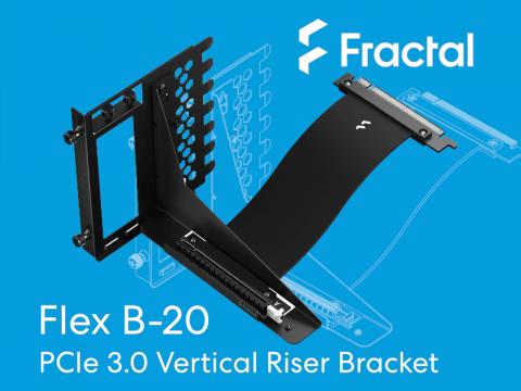 Fractal Designからビデオカード垂直設置用ブラケット付きライザーカード「Flex B-20」登場
