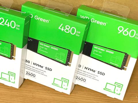 WDからコストパフォーマンス重視のPCIe Gen3.0 x4 接続対応NVMe M.2 SSD「WD Green SN350 NVMe SSD」