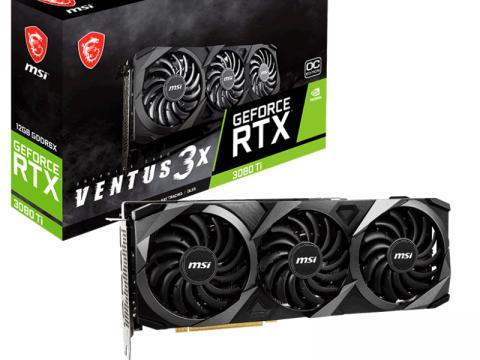 トリプルファンでOC仕様、MSI VENTUSシリーズからRTX 3080 Ti搭載グラフィックスカード「GeForce RTX 3080 Ti VENTUS 3X 12G OC」登場