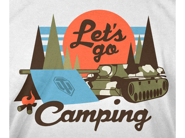 World of Tanks Lets Go Camping T-Shirt(L 02 ゲーム その他・趣味 ゲーム関連グッズ APPAREL