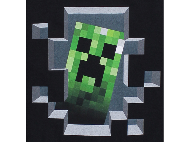 Minecraft Creeper Inside Youth Tee BK(M) 02 ゲーム その他・趣味 ゲーム関連グッズ APPAREL