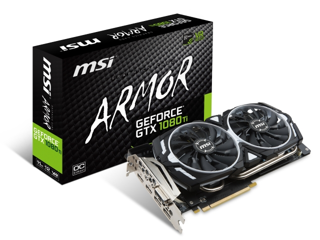 MSI GEFORCE® GTX 1080 TI ARMOR 11G OC