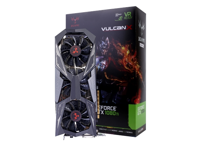 Colorful iGame GTX1080Ti Vulcan X OC 01 PCパーツ グラフィック・ビデオカード PCI-EXPRESS
