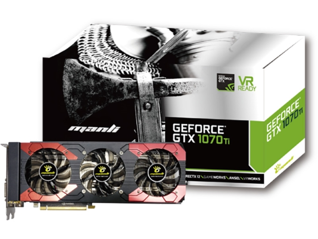 Manli GeForce GTX 1070Ti with Triple Cooler (M-NGTX1070TI/5RGHDPPP-F378G / 代理店2年保証)