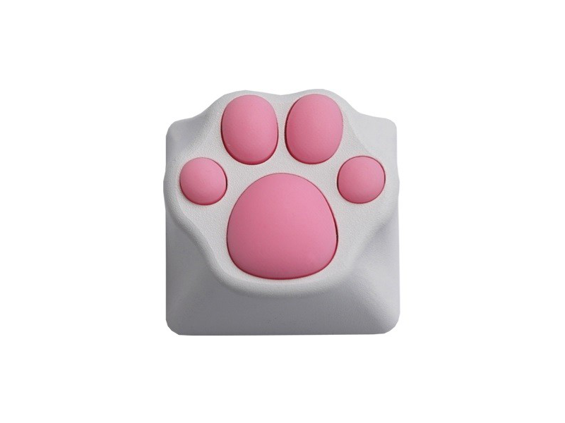 Varmilo ZOMO Kitty Paw White Pink Key Cap for Cherry MX Switches