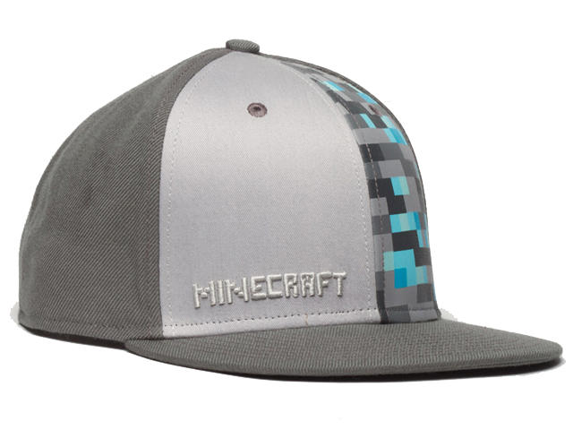 Minecraft Diamond Crafting Snap Back Hat