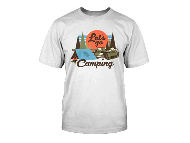 World of Tanks Lets Go Camping T-Shirt(L 01 ゲーム その他・趣味 ゲーム関連グッズ APPAREL