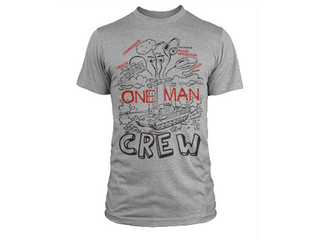 World of Tanks One Man Crew T-Shirt (L-Size)