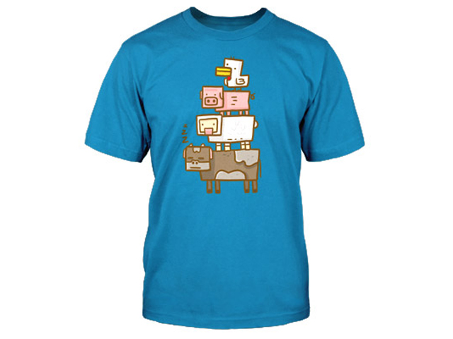 Minecraft Animal Totem Youth Tee (S) 01 ゲーム その他・趣味 ゲーム関連グッズ APPAREL