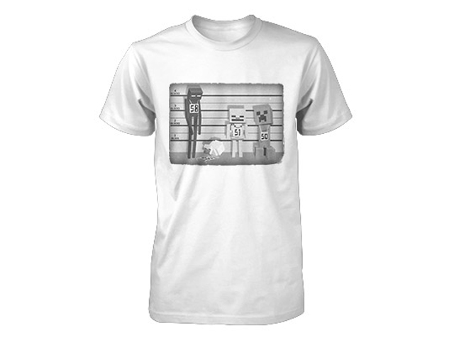 Minecraft Lineup Youth Tee White (S-Size)