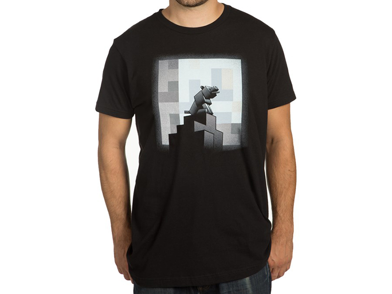 Minecraft One Wolf Moon T-Shirts (L-Size)