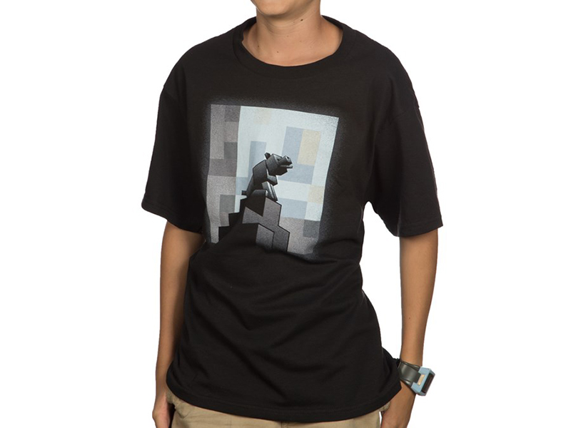 Minecraft One Wolf Moon Youth Tee (S) 01 ゲーム その他・趣味 ゲーム関連グッズ APPAREL